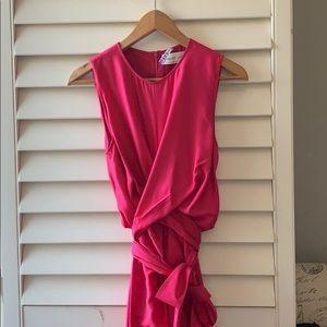 Babaton wrap-front midi dress